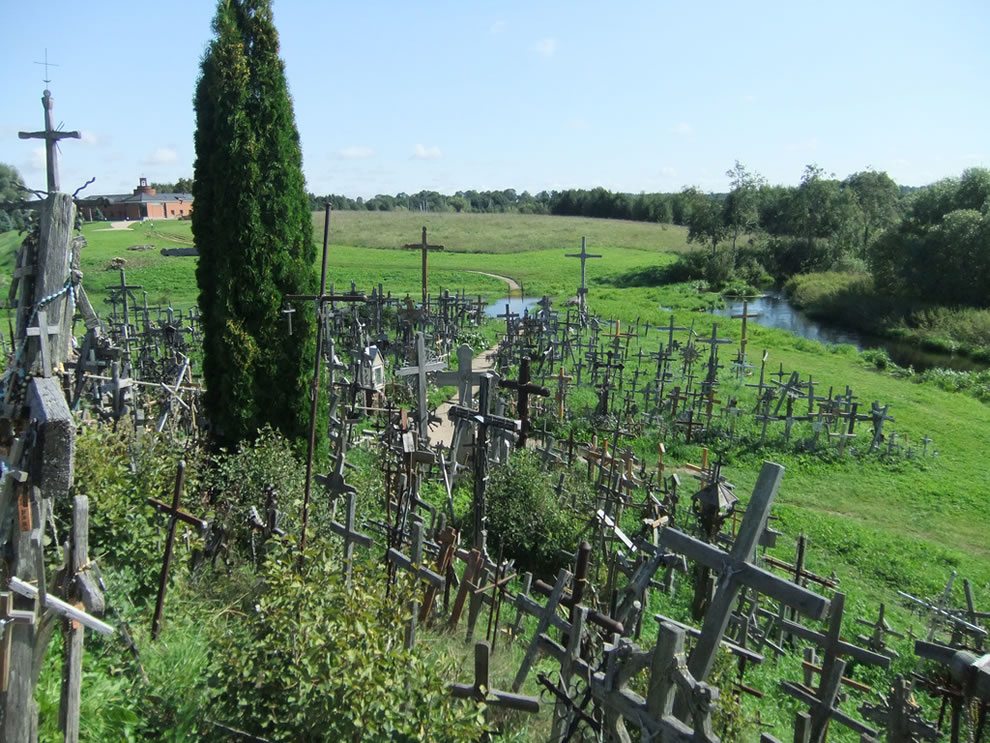 Looking down from the Hill of Crosses