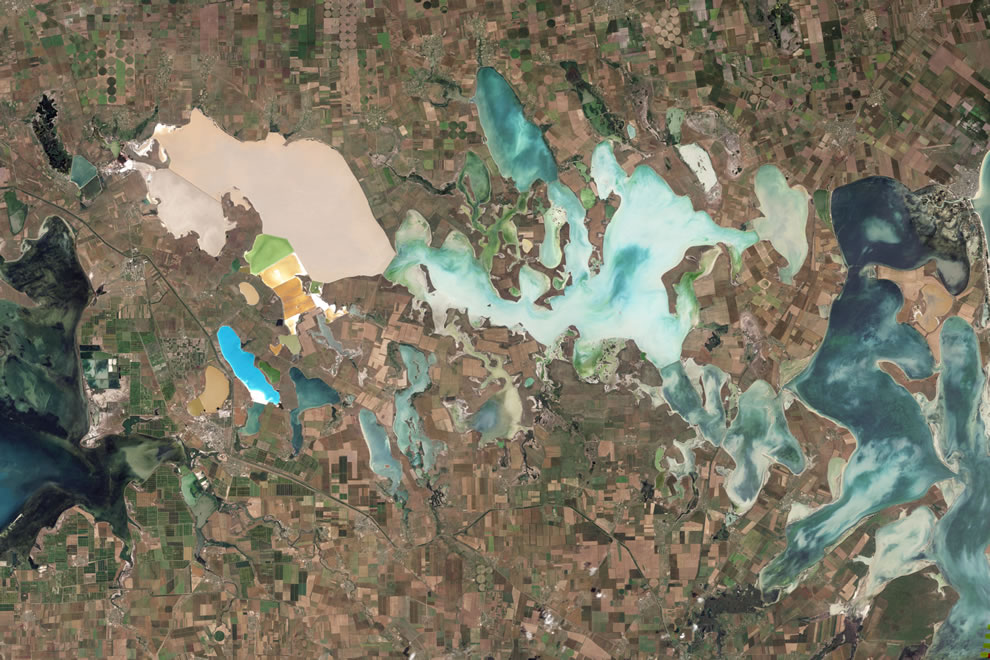 Natural-color satellite image of Sivash Lake
