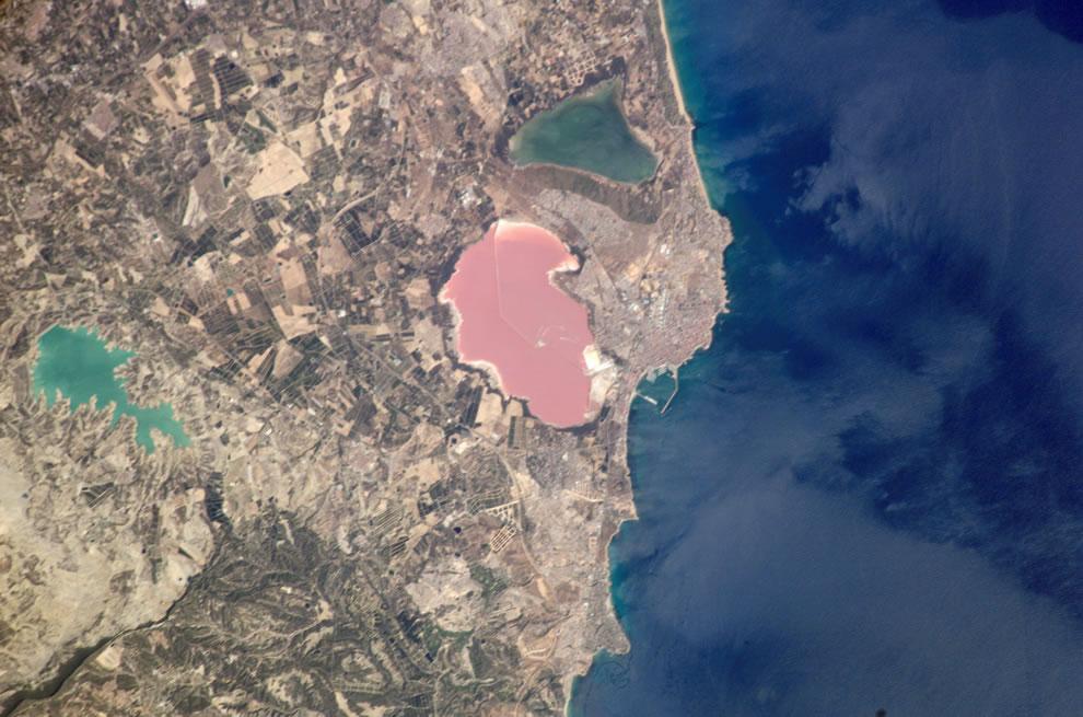 Pink Salt Lake, Torrevieja, Spain