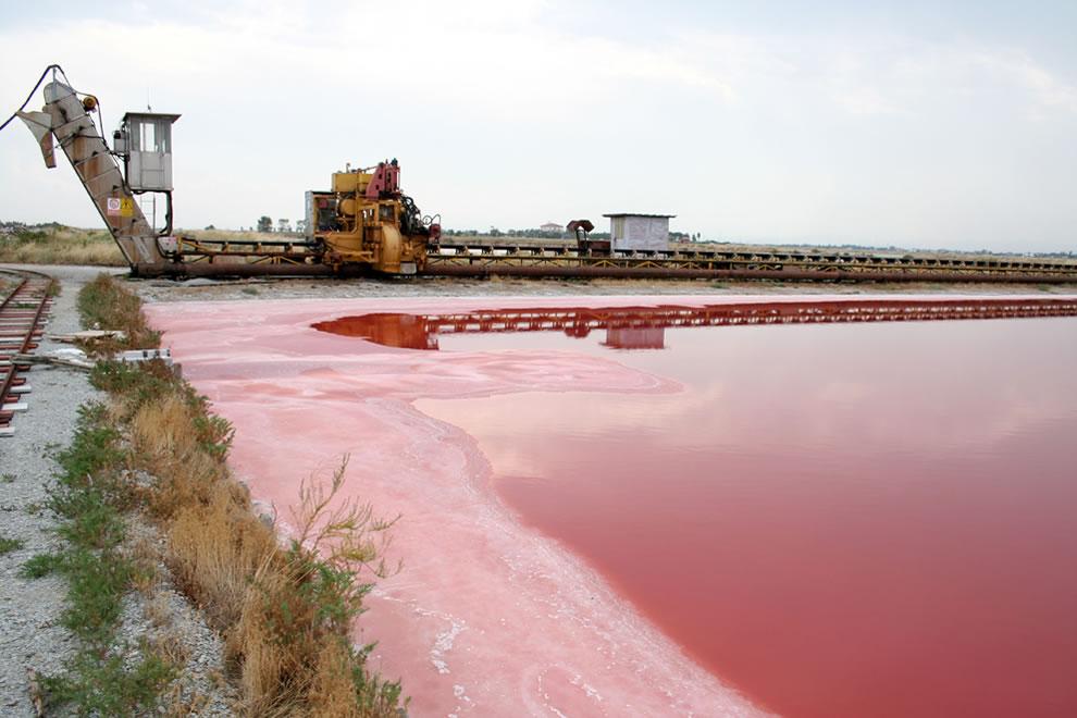 Salt mining at Cervia Saline di Cervia