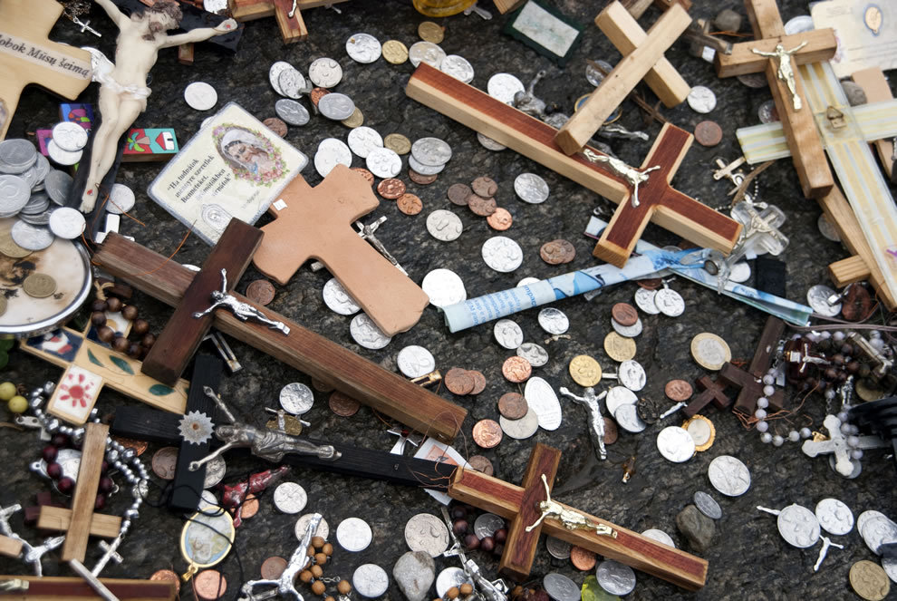Small offering at Hill of Crosses