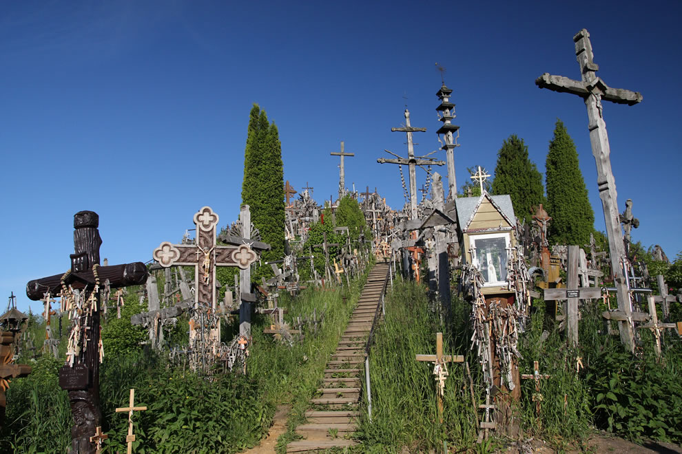 Stairway up Hill of Crosses