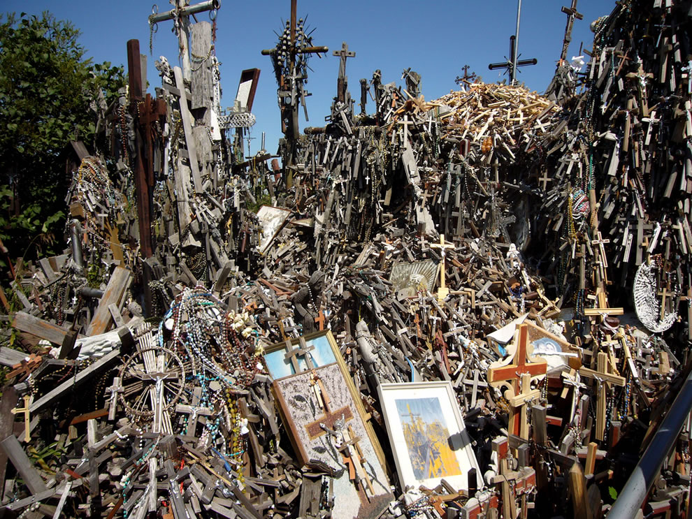 Thousands of crosses at Hill of Crosses