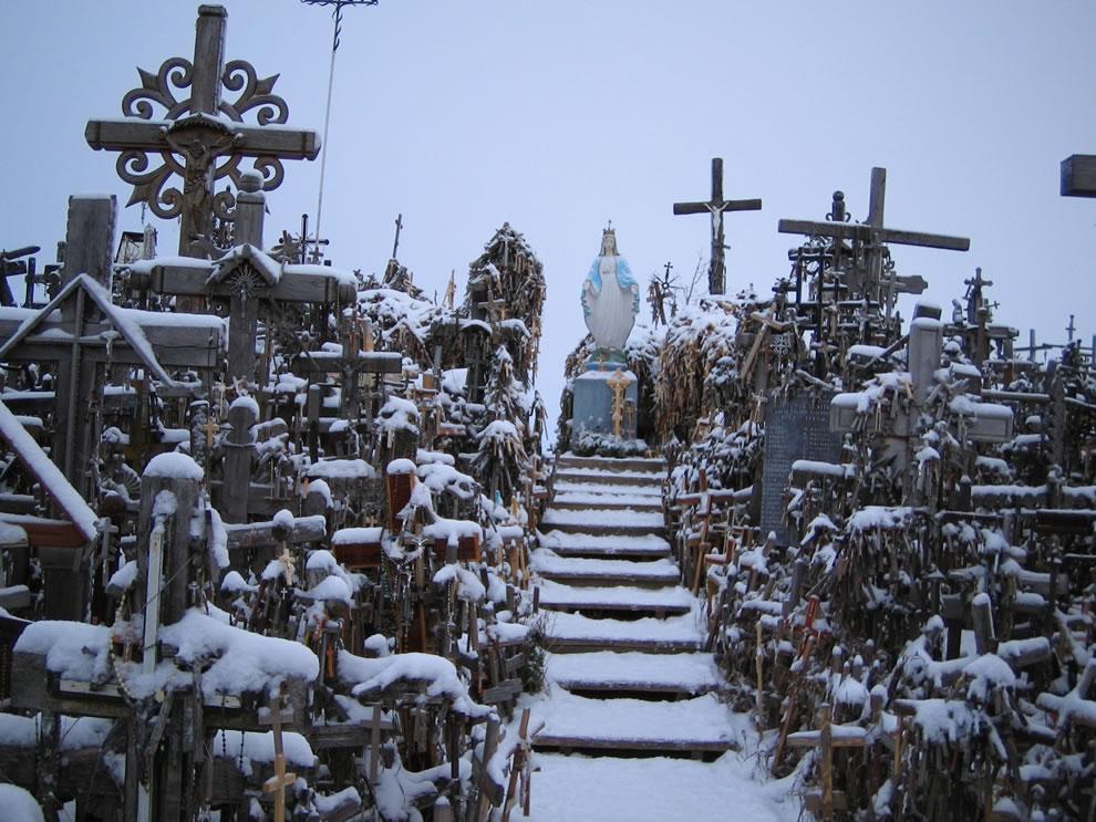 Winter at Siauliai Hill of Crosses