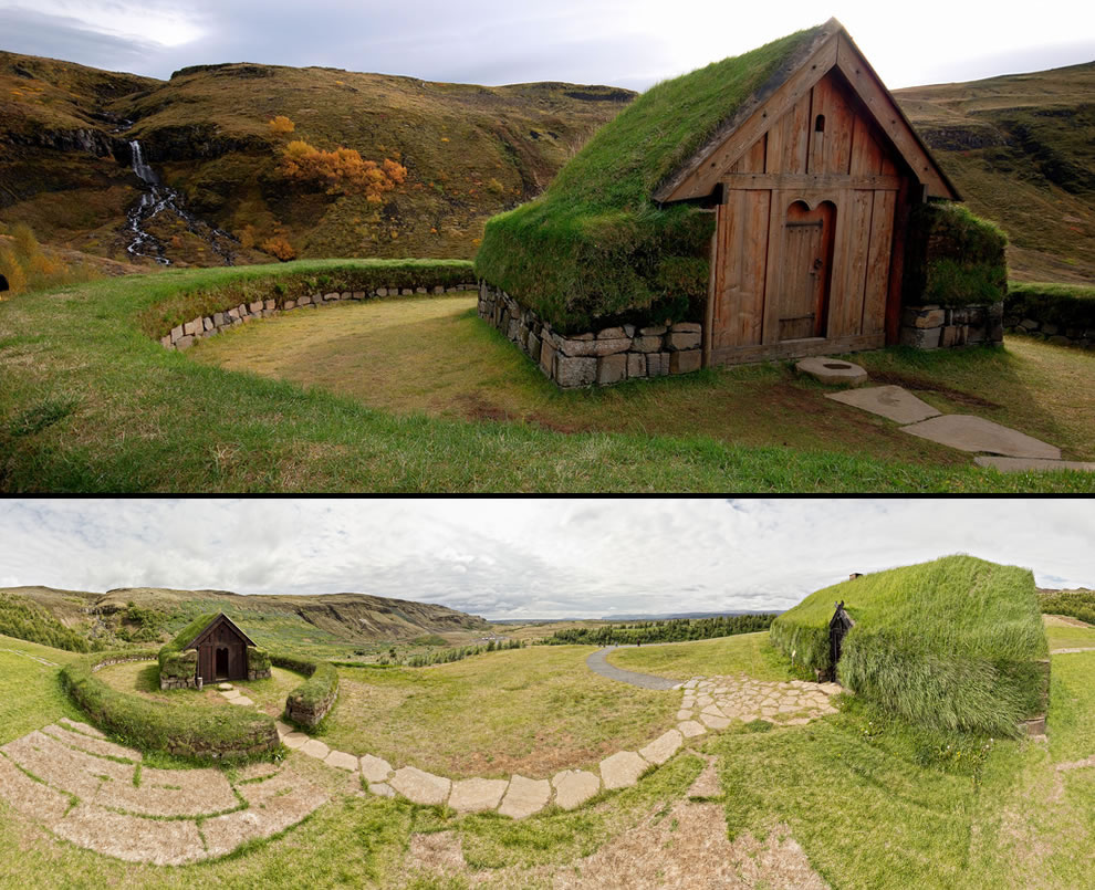 Icelandic replica of Viking farm