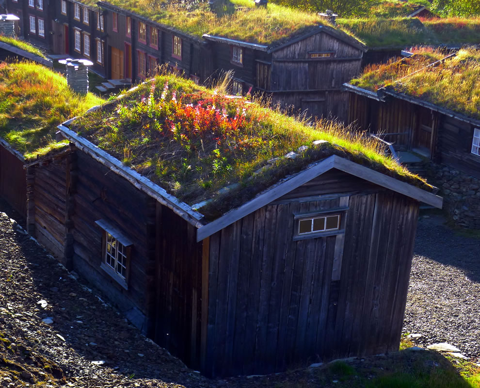 miner's hut in Roros, Norway