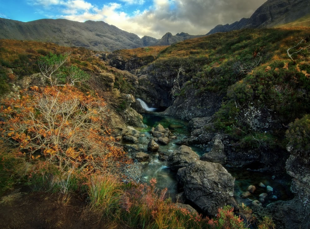 Famous Fairy Pools in Glen Brittle, Isle of Skye
