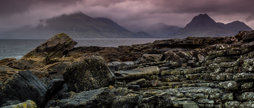 The beach at Elgol offers some stunning views of the Cuillins