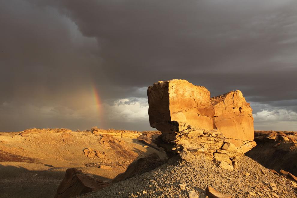 Rainbow over De-Na-Zin Wilderness in New Mexico
